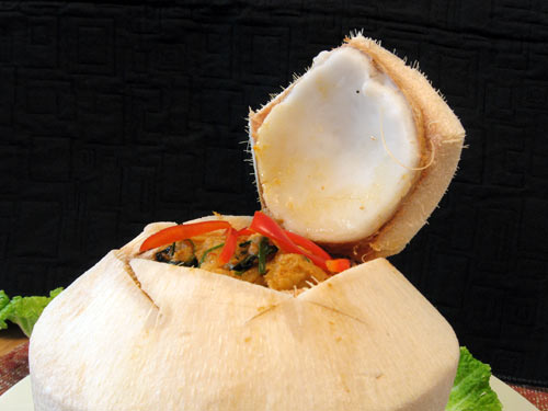 Coconut fish side view