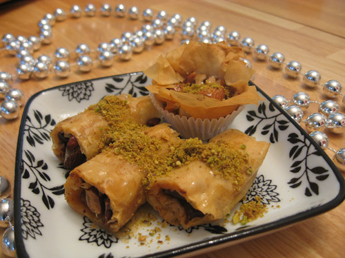 Plate with Baklava