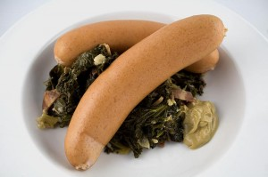 Knackwurst with Kale (click picture to enlarge)